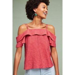 Anthropologie Mandalay OpenShoulder Blouse